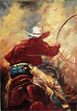 High quality portrait canvas oil painting of cowboy 57779