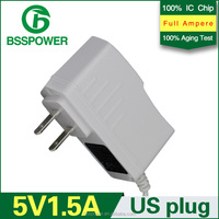 US plug 5v 1500ma ac white adapter ac 100-240v 5v power supply for Electric Clock