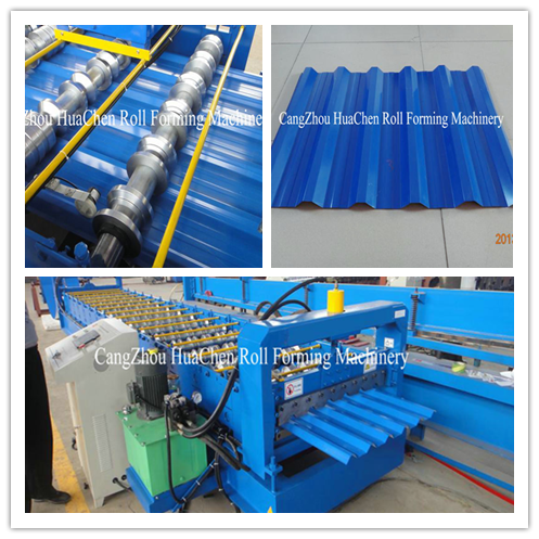 Automatic machines for making steel board Roof Tile