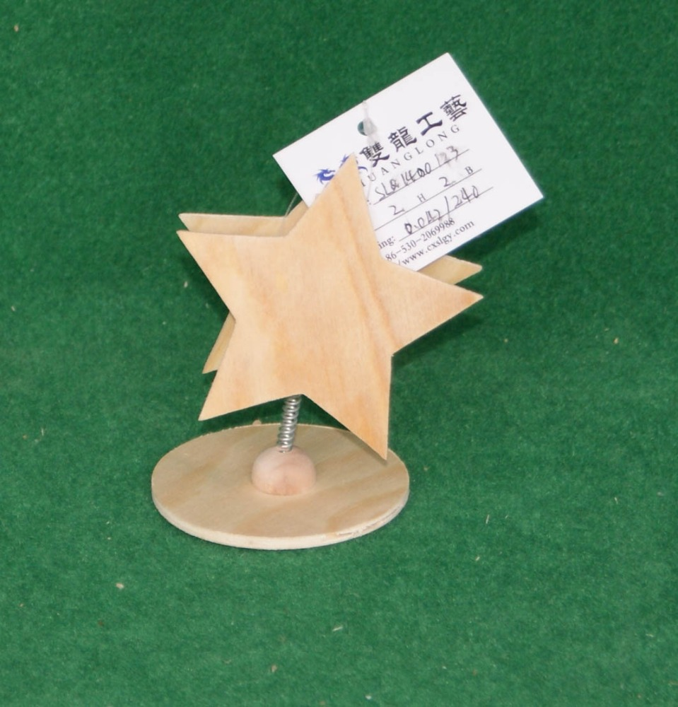 star cute wooden name card holder ,name day card wholesale