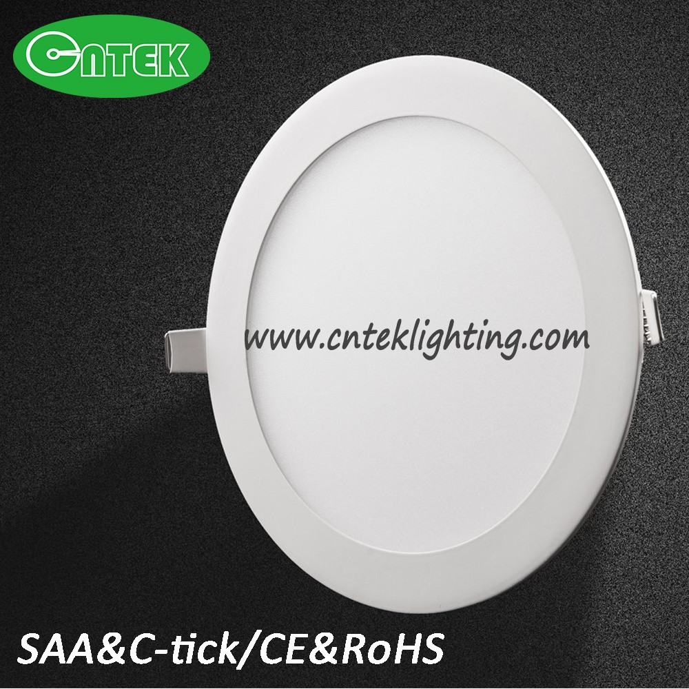 Ultra thin design 3W / 6W / 9W / 12W / 15W/18W LED ceiling recessed downlight / slim round flat ceiling led panel light