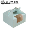 Square delicate decorative cake boxes with window and handle