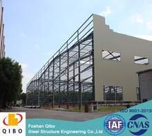 cheap prefab building prefabricated steel tube galvanized shade structure warehouse price