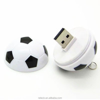 promotional plastic real capacity soccer ball usb flash drive