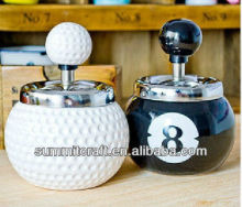 Custom 5 kinds of ball can be pressed rotary antique cigar ashtrays