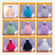 2015 Hot Selling Gown Tulle flower girl dresses for girls of 7 years old children long frocks designs SY-135