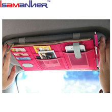 Multifunctional storage bag stylish sun visor car pocket organizer