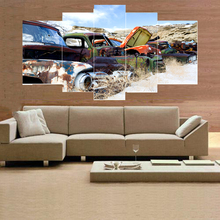 HD picture of car painting on canvas decoration home or hotel art wall