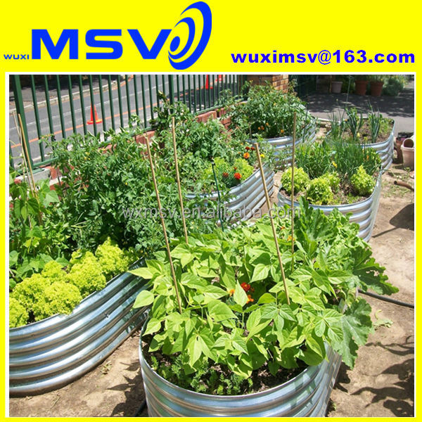 Galvanized Oval Corrugated Metal Planter