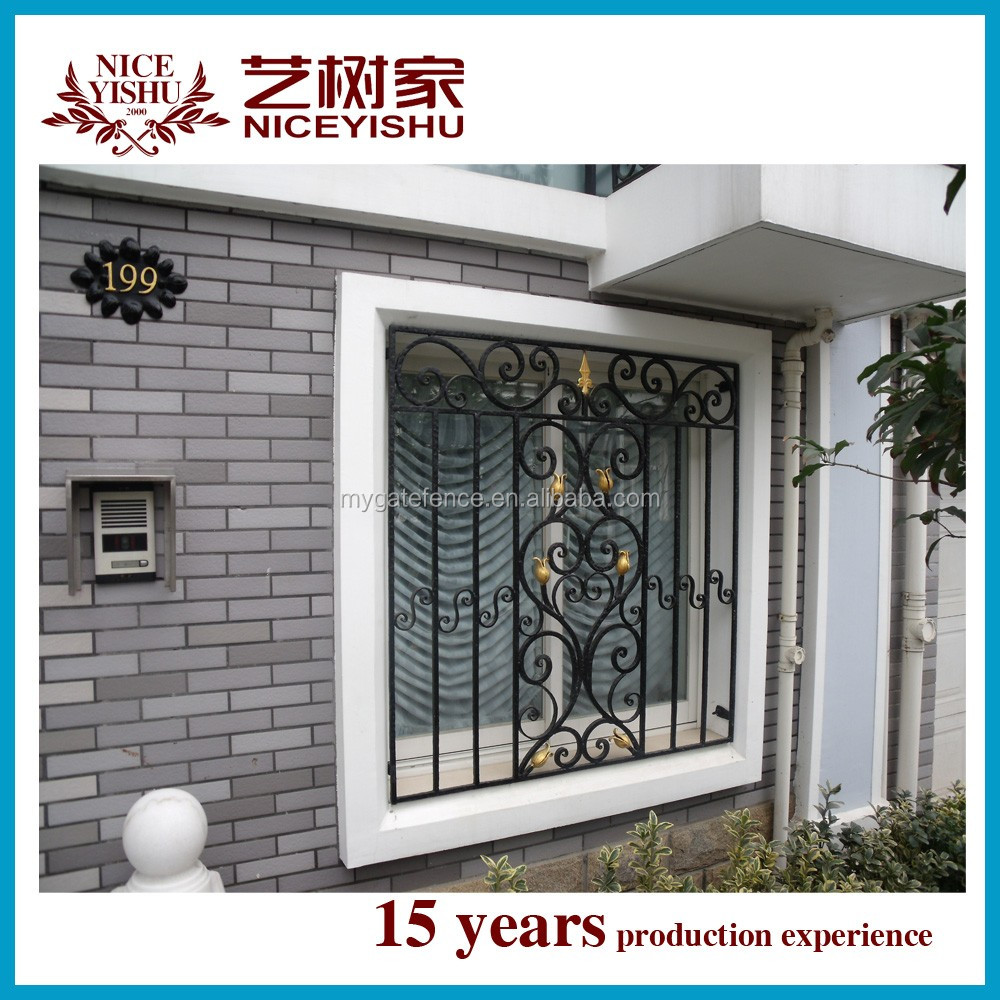 2016 latest window grill design simple decorative wrought