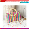 China supplier wholesale best selling 2014 colorful straw hand bag
