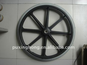 24'' pu wheelchair wheel