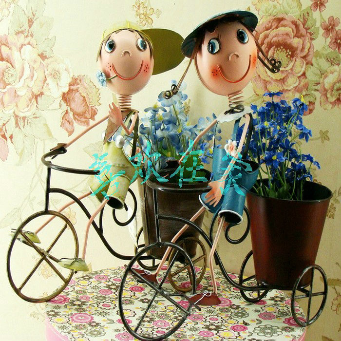 Wholesale china factory Metal doll lovely doll garden decoration