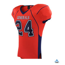 Coolmax wholesale custom red color fashion American football jersey