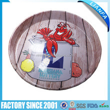 Round shape metal tray beer food tray