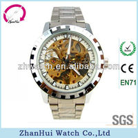 Peculiar Complicated sophisticated japan mov't stainless steel watch