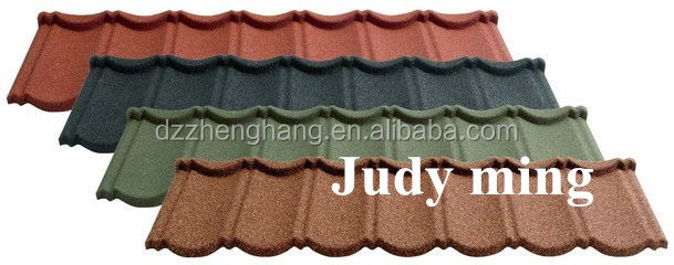Professional Flat stone coated steel roofing tiles,metal roofing tile with high quality