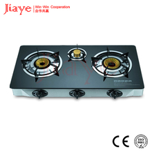 3 burner glass top gas stove/table top gas stove best price JY-TG3001