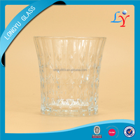 2015 new products 220ml diamond style water trophy drinking cup glass