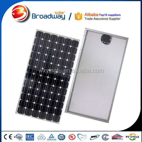 Tempered glass panel 360 watt solar panel for 2000w solar power system