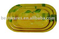 melamine oval serving tray