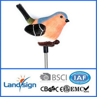 Solar led garden lights factory straight pin solar led stick lights product solar led bird stainless steel stick lights