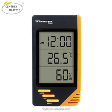 smart thermometer digital lcd display thermohygrograph with calendar(S-WS07)