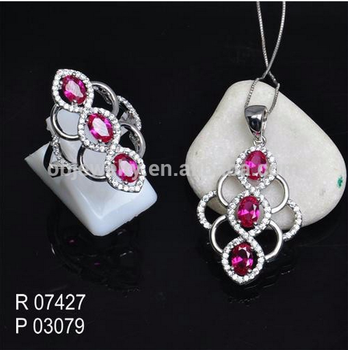 Fashion Jewelry Set Jewelry Silver Earrings And Necklace For Display Set