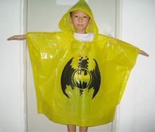disposable plastic rain poncho coat for adult and children