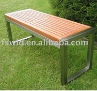 KSDT-010G STAINLESS STEEL TEAK OUTDOOR BENCHS