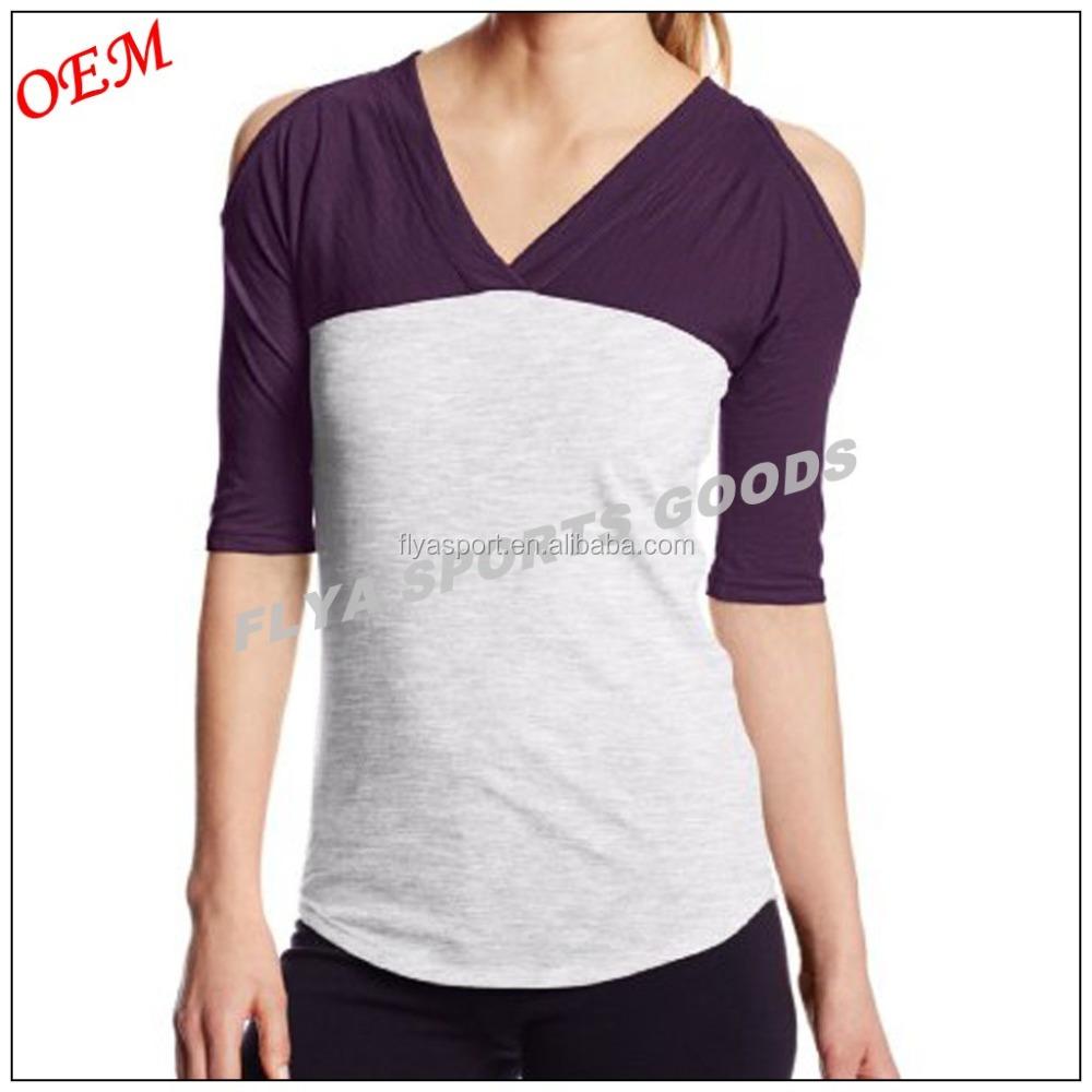 1 2 Raglan Tee Women V Neck T Shirts Wholesale Women