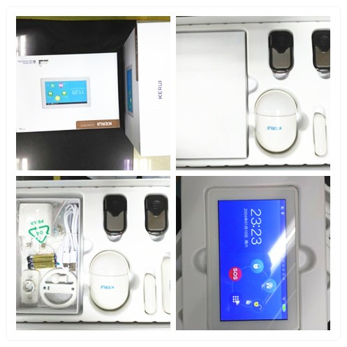 Newest 433mhz/868mhz wifi+gsm touch panel BurglarAlarm system