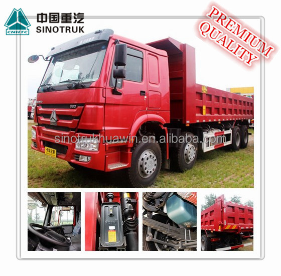 SINOTRUK HOWO 8x4 12 Tire Man Diesel 40 Ton Capacity Tipper Truck from China with high quality