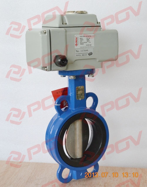 supply good quality wafer soft sealing butterfly valve with positioner