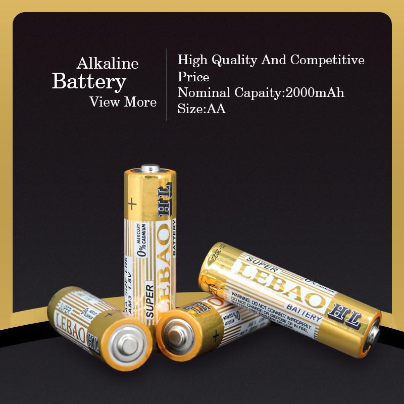 Lebao Hot-Selling Environmental High Energy Desity Stable Voltage Dry Cells Batteries,LR6 Size AA AM3 1.5V Battery, Dry Battery