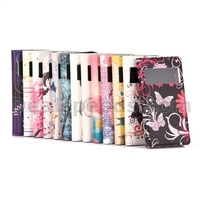 Butterfly Pattern View Window Side Flip Stand TPU+ PU Leather Case for iPhone 5S 5