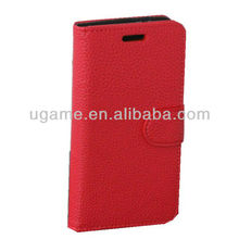 2013Hot sale Fashionable leather wallet case for HTC ONE M7