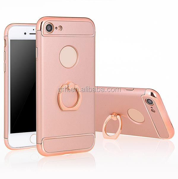 Double Dip Premium Hard Armor Shell Ring Stand Case Cover For iPhone 6 6S Plus 7 7 Plus
