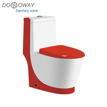 Good shape ceramics siphonic one piece colored toilet 8822A