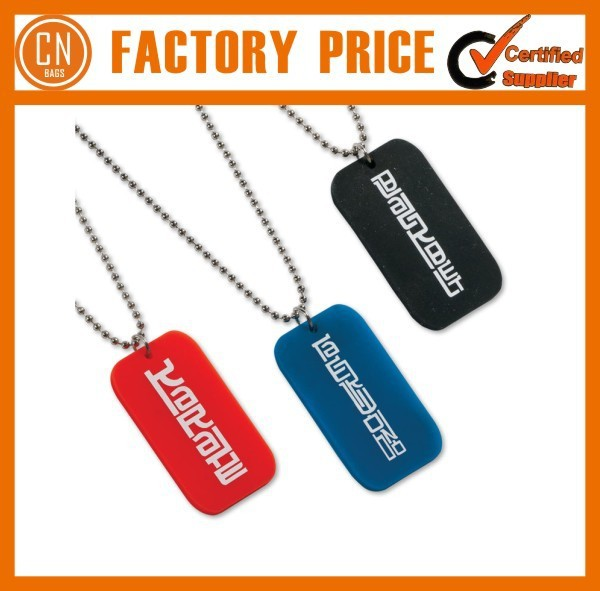 Promotional Custom Silicone Dog Tag For Dog Logo Printed