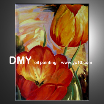 house decorative flower oil painting