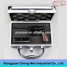 Hot sale & high quality leather gun case with foam and sponge inside impactful cheap cases price