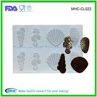Sea ocean series silicone chocolate mold factory wholesale silicone fondant cake molds