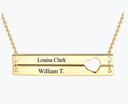 Engravable Heart Two Bar Necklace 14K Gold Plated.jpg