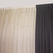 Pinch Pleated Curtain Sheer Window Covering Arabic Royal Curtain Design
