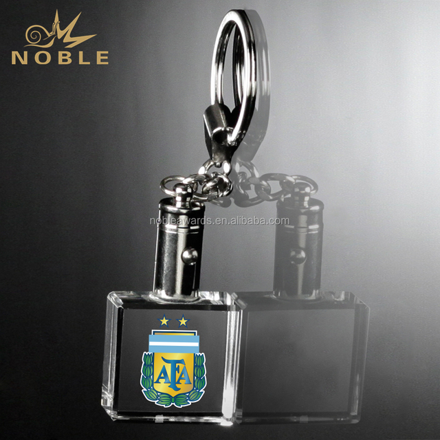 2018 Sports Souvenir Crystal Keychain Russia World Cup Promo Gifts