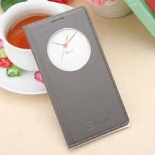 for LG G3 Beat Flip Quick Circle Leather Case