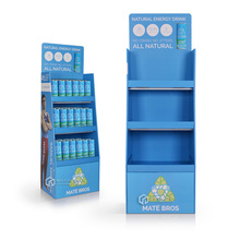 Retail Cardboard Floor Display Stand For Energy Drink