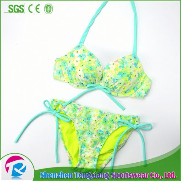 Accept Trade Assurance Crystal Print Blank White Sublimatable Bikini