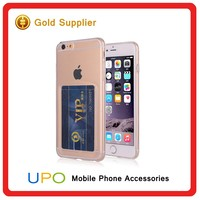 [UPO] Ultra Thin Transparent Soft Protector Silicon Back Cover for iPhone 6 TPU Case with Card Slot